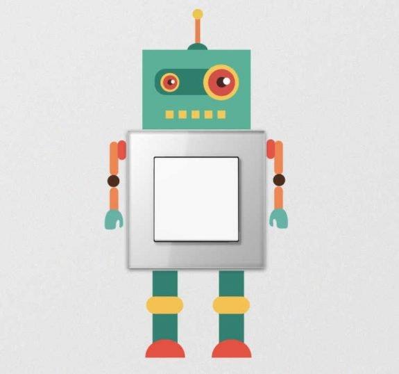 robot stopcontactsticker - stijlmagazine