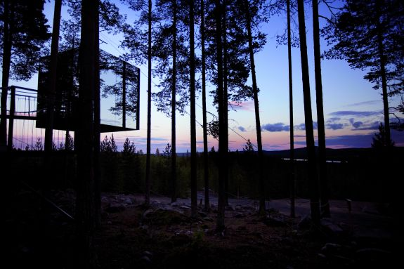 Mirror Cube Treehotel Zweden Boomhutten