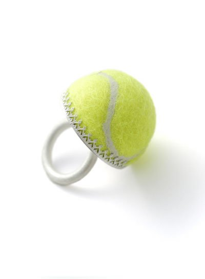 Sportieve ringen-Tennisbal ringen- Elke Munkert
