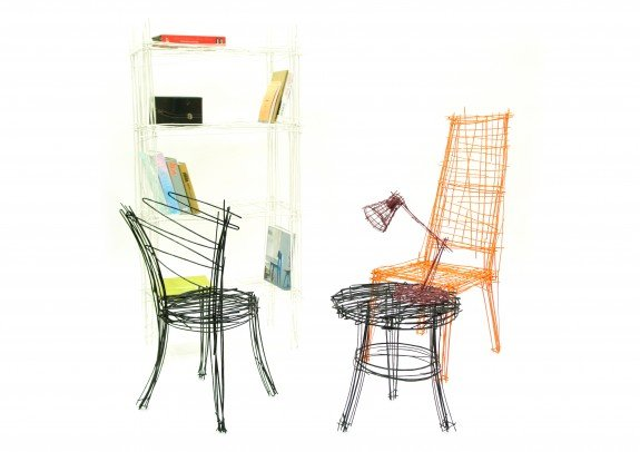Stijlmagazine-Jinil Park-Drawing-series-armchair-detail-cut.9