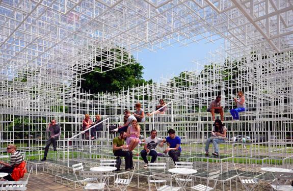 Sou Fujimoto designed the Serpentine Gallery Pavilion 2013-Photo@IwanBaan